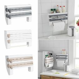 Kitchen Roll Dispenser Cling Film Tin Foil Towel Holder Rack