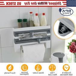 Kitchen Roll Dispenser Cling Film Tin Foil Paper Towel Holde