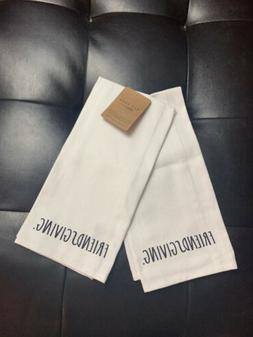 "Rae Dunn Kitchen Tea Towels ""Friendsgiving"" Set of 2 NEW"