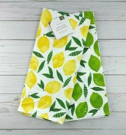 Envogue Kitchen Tea Towels Set of 2 Lemons Limes