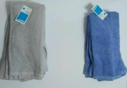 KITCHEN TOWEL 4 PACK AQUA AND GREY ROOM ESSENTIAL 15in x25in