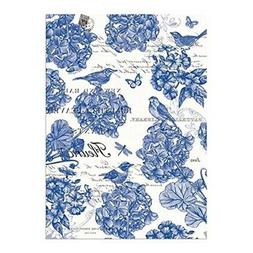 """Michel Design Works Kitchen Towel """"Indigo Cotton"""" Blue/Off-W"""