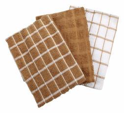 "Ritz Kitchen Towel Cotton 16"" X 25"" Mocha 3 / Pack Pack of 3"
