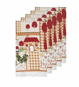 American Mills Kitchen Towel 5 Pack Cotton Home Sweet Home D