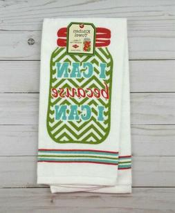 Ritz Kitchen Towel Dish Terrycloth Mason Canning Jar I Can B