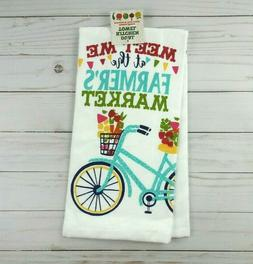 kitchen towel dual purpose farmers market bicycle