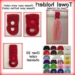 Kitchen towel holder, Kitchen towel hanger, crochet towel ho