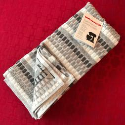 KitchenAid Kitchen Towel Set of 2 - Gray Squares