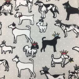 Cynthia Rowley Kitchen Towel Set 2 Dog Crowns Royal Royalty