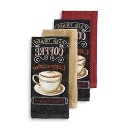 Essential Home 4-Piece Kitchen Towel Set - Morning Treat! -