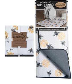 Kay Dee 3-Piece Kitchen Towel Set and Dish Drying Mat