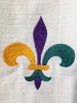 """Kitchen Towel - Set of 2 - Fleur De Lis - Mardi Gras - 16""""Wx"""