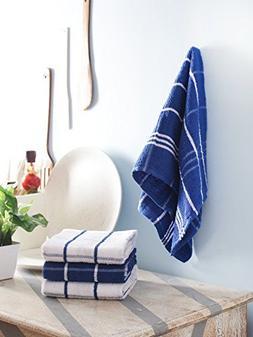 smart dishcloths Kitchen Towel Terry, Blue, 4 Pack, 26 x 18i