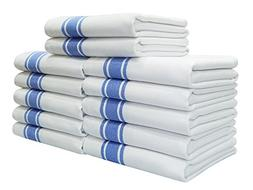 Kitchen Towels,100% Natural Cotton, 12 Pack, 27 x 17 inch, W