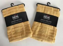 kitchen towels 2 gold 17 x 30