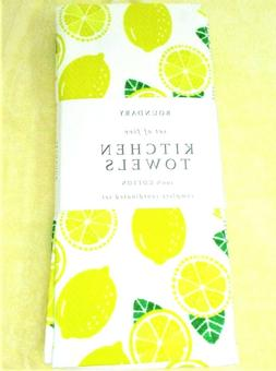 """Kitchen Towels 5 Pack dish hand 18x28"""" Boundary ~ Bright Yel"""