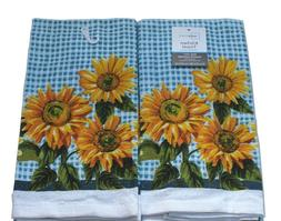 Mainstays Kitchen Towels, Sunflowers Theme