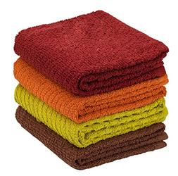 DecorRack 4 Pack Large Kitchen Towels, 100% Cotton, 15 x 25