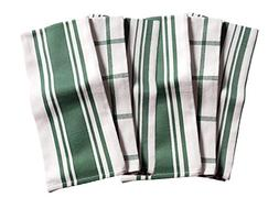 KAF Home Kitchen Towels, Set of 6, Forest & White, 100% Cott