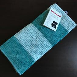 KitchenAid Kitchen Towels Aqua Blue 100% cotton 2 Pack