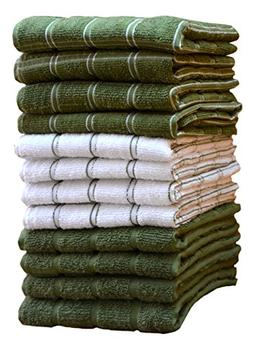 HomeLabels Kitchen Towels  100% Premium Cotton, Machine Wash