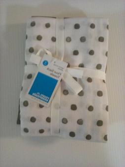 Kitchen Towels Dish 4Pk Gray/Polka Dot Flour Sack Room Essen