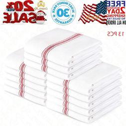 Kitchen Towels Dish Towels  Tea Towels 100 Percent Cotton Di