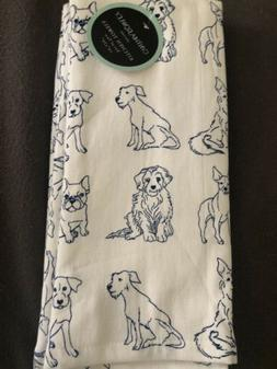 Cynthia Rowley Kitchen Towels Dogs Puppies Sketched Dogs 2 N