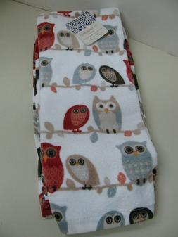 Mainstay Patriotic Owl 1 Theme Kitchen Set 2 Towels Oven Mitt 3 Piece Home Garden Linen