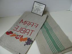 Artistic Accents Kitchen Towels - FARM to TABLE - Set of 2 -