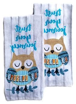 Owl Kitchen Dish Towel Set Of 2