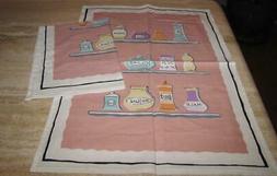 Kitchen towels; set 2; spices; Sur la Table; multicolor cott