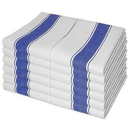 Kitchen Towels Set by SMARTZ; 100 percent Cotton with Hangin
