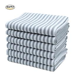 Jennice House Kitchen Towels set 6 Pack of Pure Cotton Kitch
