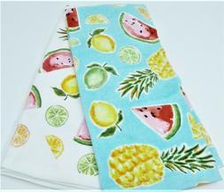"Kitchen Towels Set of 2 dish 26"" x 16.5"" Fruit lemon lime pi"