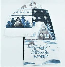 "Kitchen Towels Set of 2 dish hand 16.5"" x 26"" ~ Winter, Home"