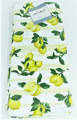 "Truly Lou Kitchen Towels Set of 2 dish hand 18x28"" ~ Lemons"