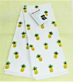 "Kitchen Towels Set of 2 KitchenAid dish hand 16x28"" ~ Pineap"