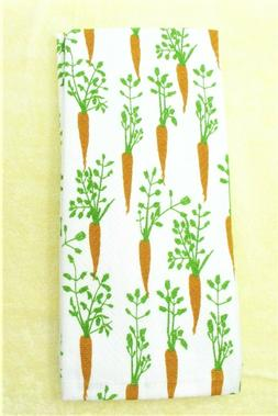 "Kitchen Towels Set of 2 dish hand 18"" x 28"" ~ Fresh Carrots"