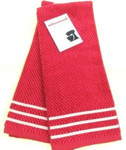 "Kitchen Towels Set of 2 KitchenAid dish hand 16x26"" terry cl"