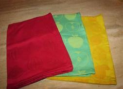 Kitchen towels set of 3; fruit; Sur la Table; cotton; aqua y