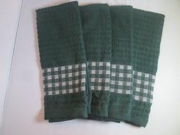 KITCHEN TOWELS SET OF 4 - 100% COTTON - GREEN COLOR - SIZE 1