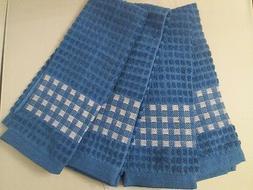 KITCHEN TOWELS SET OF 4 - 100% COTTON - BLUE  COLOR - SIZE 1