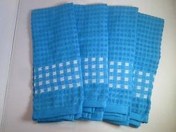 KITCHEN TOWELS SET OF 4 - 100% COTTON - LIGHT BLUE COLOR - S