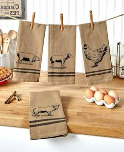 farmhouse kitchen towels set of 4