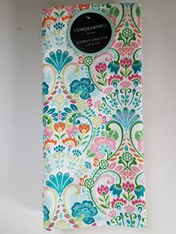 Cynthia Rowley set of 2 kitchen towels Spring colorful multi