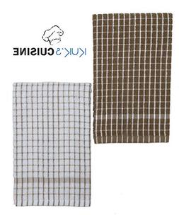 Kuk's Cuisine Kitchen Towels - Ultra Absorbent - 100% Cotton
