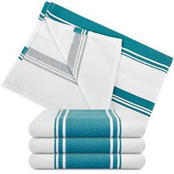Kitchen Dish Towels - Set of 4 Cotton Tea Towels 20 x 28 inc