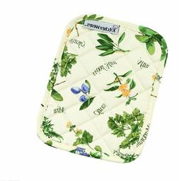 RITZ KitchenWears Quilted Cotton Printed Pot Holder,  9.5-in
