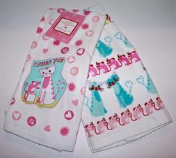 Kohl's CAT LOVERS Kitchen Towels Set of 2 Valentine's Day/Ev